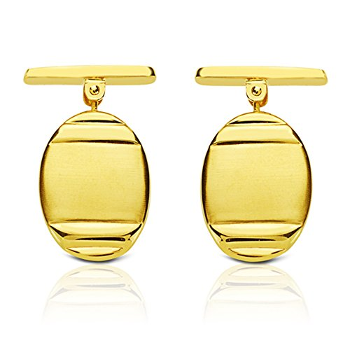 Boutons de manchette de Homme Monet or jaune 1 Loi 750 18 carats