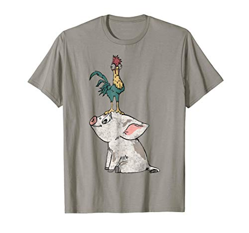 Disney Moana Hei Hei Standing Head Graphic T-Shirt
