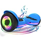 TOMOLOO Hoverboard, Bluetooth and LED Music Rhythmed Lights Hover Board with 6.5 Inch Solid Wheel, UL2272 Certified Hoverboard for Kids and Adults