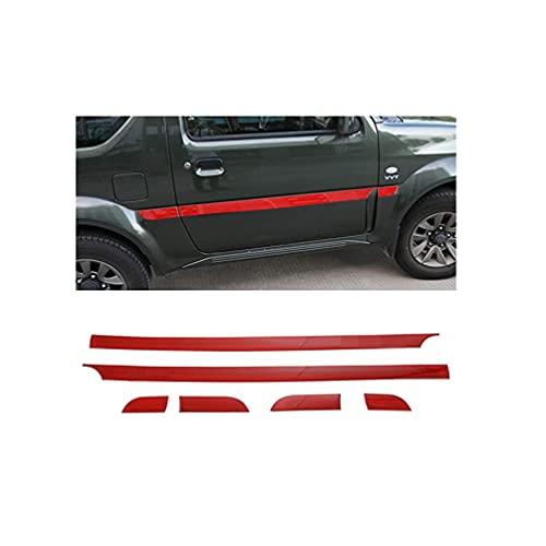 YFBB ABS 6 Piezas de Tiras de Puerta Interior de Coche Cubiertas de decoración de Borde de Puerta, para Jimny 2007-2017