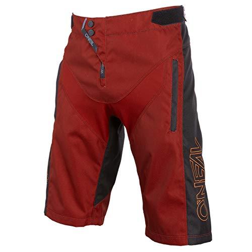 O\'NEAL | Mountainbike-Hose | MTB Mountainbike DH Downhill FR Freeride | Strapazierfähiges Mesh-Material, Stretcheinsätze | Element FR Shorts Hybrid | Erwachsene | Rot Orange | Größe 32/48