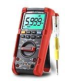 UNI-T UT15B PRO Multímetro True RMS Digital Profesional VFC Polímetro 6000 Cuentas Medidor con Retroiluminada LCD y Linterna para Corriente y Voltaje AC/DC, Resistencia, Continua, Capacidad, Diodos