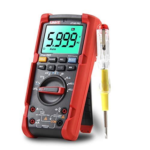 UNI-T UT15B PRO Multimetro Digitale 6000 Conti TURE RMS Tester Professionale con Funzione VFC per Test di Corrente e Tensione AC/DC, Resistenza, Capacità, Diodo