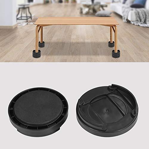 Riser letto, Piedini di rialzo per letti, Rialzi Regolabili per Tavolo o Rialzi per Mobili, Diametro 8,5 cm, Nero, 8 Pezzi