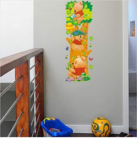 Tableaux de hauteur Winnie l'Ourson pour enfants Autocollant mural Mural Art Déco Accueil Décoration murale Décoration Décalcomanies Chambre de bébé