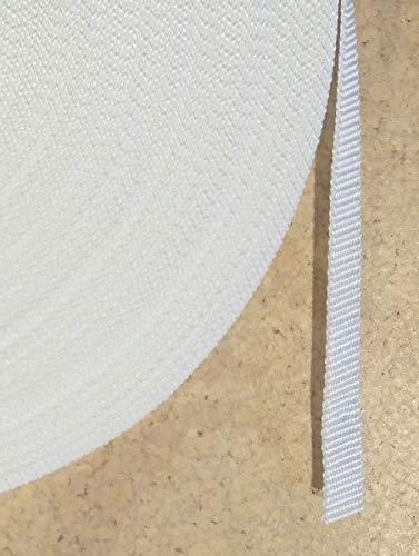 50 m Rolle Rolladengurt - spezial - weiss - Breite 14 mm - hohe Reißfestigkeit - UV Beständigkeit - Schmutzunempfindlichkeit - beste Scheuerfestigkeit - Perlonkantenschutz