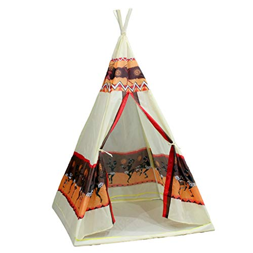 ZPHWH-E HWH Indian Tent, Boy's Camouflage Teepee Infant Indoor Play Tent 4-corner Tent for Kindergarten Kids - 98*98*140CM - Children Over 3 Years Old Game house ( Color : B , Size : 98*98*140CM )