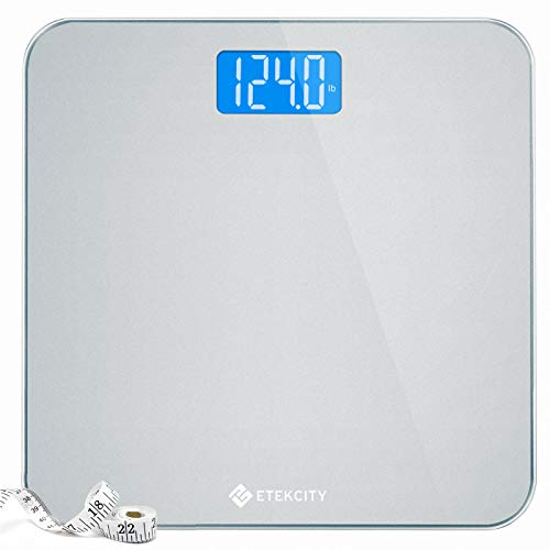 Etekcity Digital Body Weight Bathroom Scale with Body Tape Measure and Round Corner Design, Large...