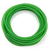 Correa de poliuretano, correa redonda de poliuretano PU de superficie rugosa verde para transmisión...