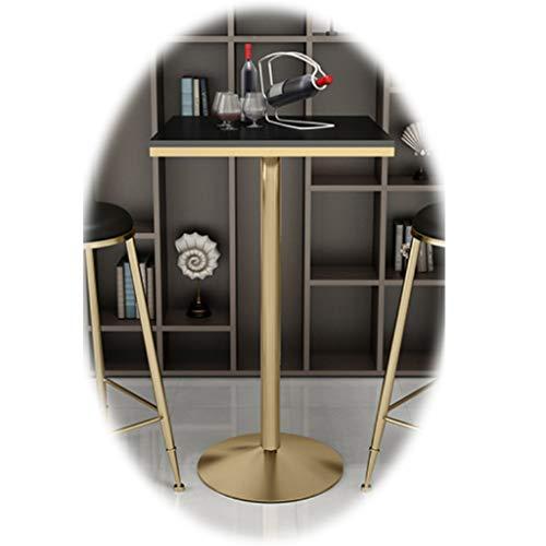 YF-Barstool Elegante 5-teilige Küchengarnitur mit Esstisch und Stühlen Set 4 Esstisch aus weiß/schwarzem Holz mit Stuhl, Küchentisch und 4 Barhockern
