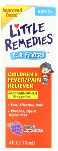 Little Remedies Fever Pain Reliever for Children, 4 Fluid Ounce (Pack of 2)