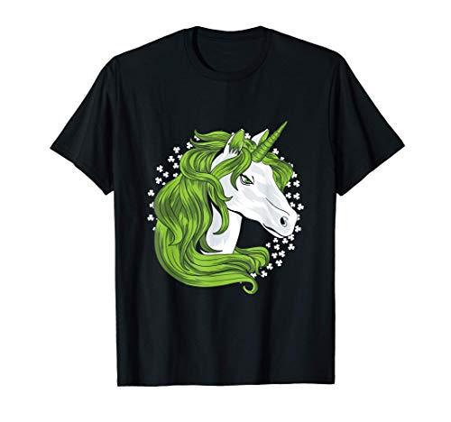 Licorne Feuille Trèfle Shamrock Fête Saint Patrick Cadeau T-Shirt
