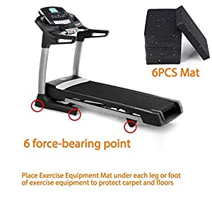 BestXD Heavy Duty Equipment Mat for Treadmill and Rowers Water Rowing (4.7 X 3.15 X 0.55 Inch, 6PCS)