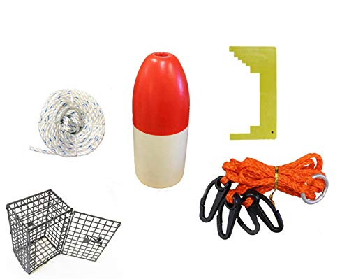 Kufa CES-3 Bastelzubehör-Set (30,5 m Langer, sinkender Schnur, Clipper, Geschirr, Köderkäfig und 35,6 cm großer Schwimmer)