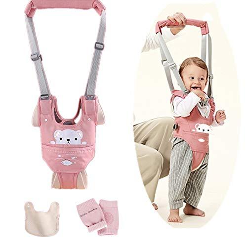 Felly Lauflernhilfe Gehhilfe für Baby, Babylauflern Hilfe, Stehen Gehen Lernen Helfer Walker Verstellbar mit Lätzchen und Knieschützer, Baby Gehhilfe für Baby Kleinkind 6-36 Monthe (Kleiner Bär)