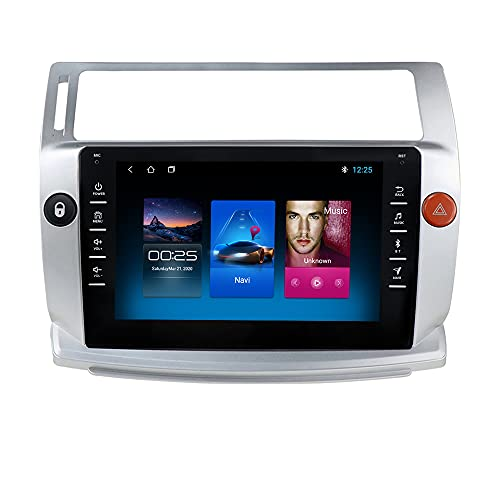 Autoradio para Citroen C4 C-Triomphe C-Quatre 2004-2009 GPS Navi para Citroen c4 Android Radio Bluetooth Manos Libres Control del Volante WiFi 4G USB Enlace Espejo Dab+ Entrada de Vista Trasera
