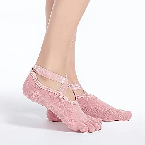 JJZXD Mujeres Dance Socks Girls Yoga Calcetines Silicona Antideslizante Pilates Barre Transpirable Sports Dance Calcetines de algodón Calcetines Zapatillas