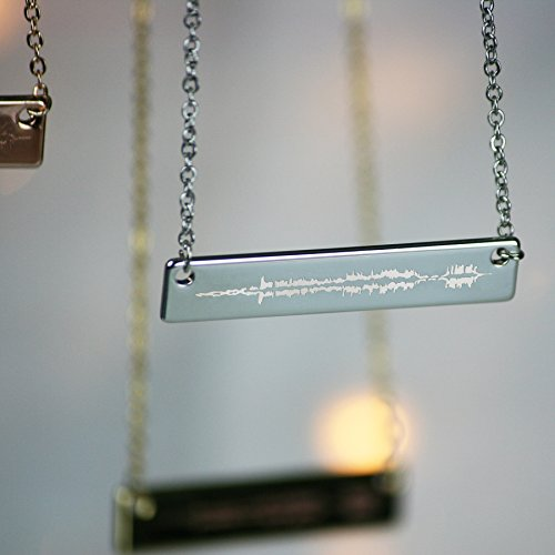 Mix Brand Personalised Sound Wave Necklace (Silver Plated)