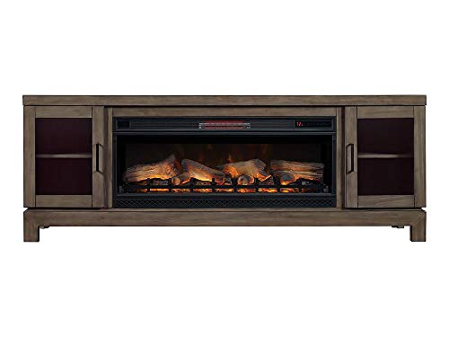 Berkeley 76-in Infrared Electric Fireplace TV Stand in Spanish Gray - 42MM6018-I614