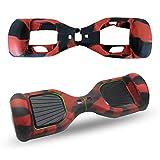 ABBY Protectora Funda de Silicona para 6.5' Smart Scooter Balance Patinete Electrico Hoverboard Cover (Negro Rojo)