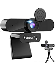 Webcam with Microphone, 110° Wide Angle 2K 1440P Full HD Webcam with Stereo Microphone, Desktop or Laptop USB Webcam for Video Calling, Recording, Teaching, Conferencing, Streaming and Gaming