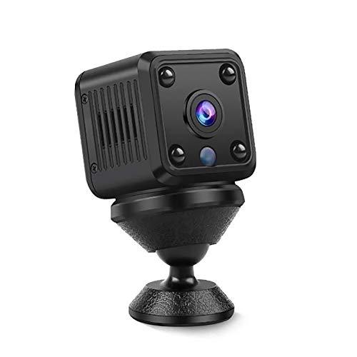 DRALO Mini Cámara Cámara Inalámbrica WiFi de 720P Monitoreo de Seguridad en Casa Cámara de Visión Nocturna de Alta Definición de Audio en Directo Y Prueba de Deportes Portátil