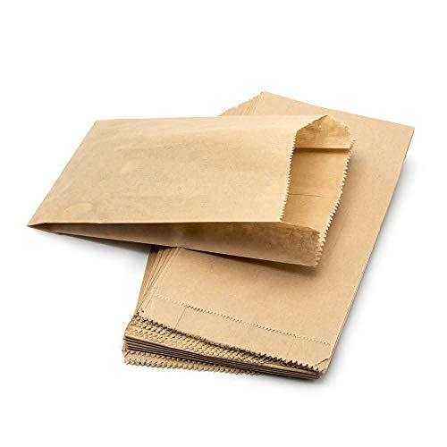 ARTESTAR Sacchetti di Carta Marrone Kraft, Sacchetto di Carta Sacchetto Regalo di Caramelle di Pane, Sacchetti Regalo Fai da Te in Carta Riciclata per Pranzo e Artigianato 11 * 20 cm