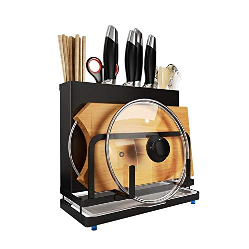YAOLUU Universal Knife Block Multi-function tool storage rack knife seat cutting board cutting board rack plate rack household stainless steel rack Kitchen Knife Storage