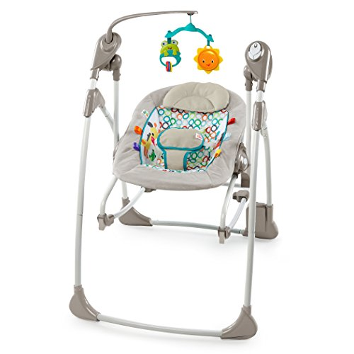 Bright Starts, Rock and Swing 2-in-1 Jungle Stream, Grey