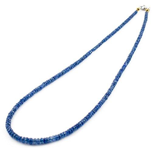 Collana unisex con zaffiri blu in oro 18Kt. Gioiello unisex made in Italy