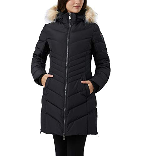 Pajar Women's Chevron Quilted Downfill Coat Puffer Queens (Black) (S)