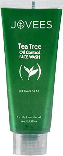 Jovees Tea Tree Oil Control Face Wash for Oily and Sensitive Skin Ayurvedic 120 millilitre