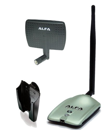 Alfa AWUS036NH 2000mW 2W 802.11g/n High Gain USB Wireless G/N Long-Range WiFi Network...