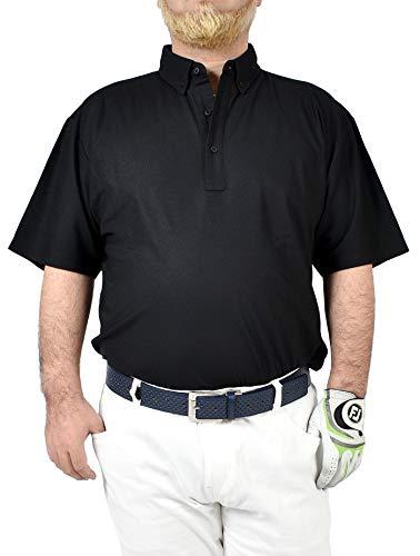 【サンタリート】 Santareet メンズ 4.7oz 鹿の子 ドライタッチ 吸汗速乾 & 形状安定 機能性素材 ビッグサイズ ゴルフ ポロシャツ CA-UA2022K XXL・3L ブラック