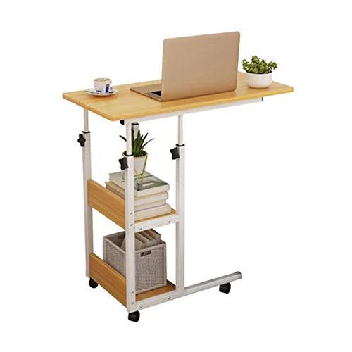 Beistelltisch Betttisch, Laptoptisch Höhenverstellbar, Notebookständer Laptopständer Mit Rollen, Drehbar, Frühstückstisch for Home Office
