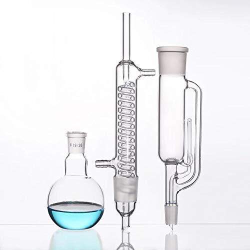 Laborchemie Glas 250ml, 24/29, Glas Soxhlet Extractor Körper, Coil Graham Kondensator, Laborglas, Experimental Zubehör (Size : 250ml)
