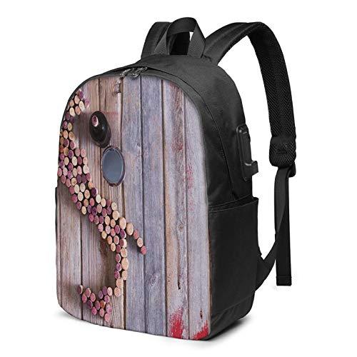 Laptop Rucksack Business Rucksack für 17 Zoll Laptop, Weingut 25 Schulrucksack Mit USB Port für Arbeit Wandern Reisen Camping, für Herren Damen