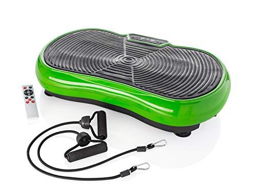 Orbisana Vibrationsplatte Shape Testsieger 2020 - (Sehr gut: Note 1,5 - DtGV) bis 150kg belastbar inkl. Expanderbänder, DVD mit Übungen, Ernährungsplan, Fernbedienung, 10 Trainingsprogramme