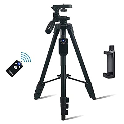 Phone Tripod, Fugetek Phone & Camera Tripod with Bluetooth Remote Shutter from Fugetek