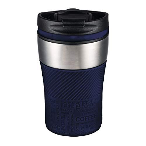 Thermobecher to go - passt unter jeden gängigen Kaffeeautomat Farbe dunkelblau, silber 230 ml