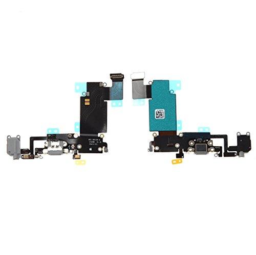 Dock connector laadaansluiting + jack + microfoon grijs/zwart voor iPhone 6S Plus