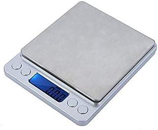 ميزان إلكتروني رقمي صغير محمول للمجوهرات بشاشة ال سي دي لوزن يتراوح بين 500 جرام و0.01 جرام