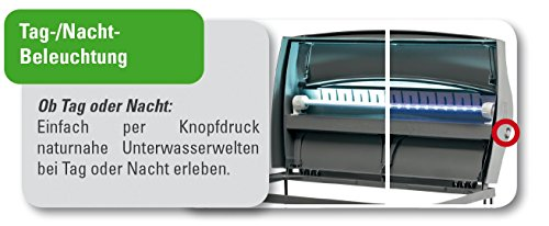 Tetra AquaArt Evolution Line LED Aquarium-Komplett-Set 100 Liter anthrazit (moderne LED Beleuchtung, integrierte Tag-Nachtlichtschaltung, gebogene Frontscheibe) - 9