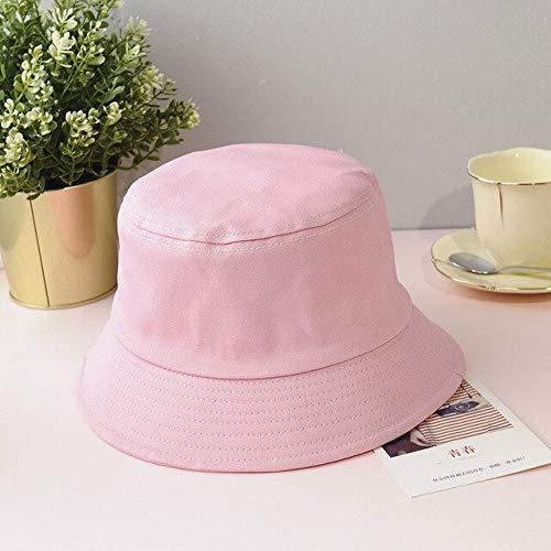 Sombrero de Cubo Plegable de Verano Unisex para Mujer, Gorra de Pesca de algodón con protección Solar al Aire Libre, Gorra de Pesca para Hombre, Sombreros para prevenir el Sol-7Pink-1-Adult