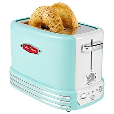 Nostalgia RTOS200AQ Bagel Toaster, Aqua Blue
