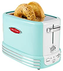 Extra-wide toaster: The 2 large slots are perfect for toasting bagel halves and thick slices of bread, English muffins, and more Lighted controls: Lighted control buttons feature bagel, defrost, and cancel options Perfectly toasted: The 5 browning le...