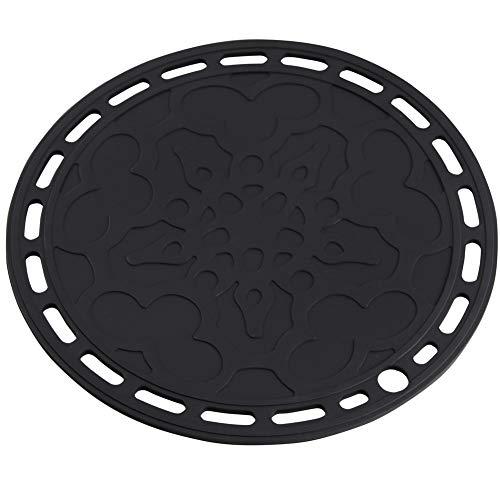 Smithcraft - Set di 3 sottobicchieri rotondi in silicone per tavolo e presine, multiuso, vari colori a scelta (nero)