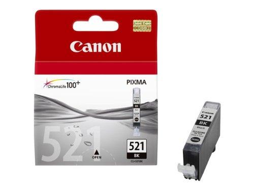 Canon–CLI-521BK–Schwarz–Original–Schutzhülle mit Sicherheit–inklusive Tintenpatrone–für PIXMA iP3600, iP4700, MP540, MP550, MP560, MP620, MP630, MP640, MP980, MP990, MX860, MX870