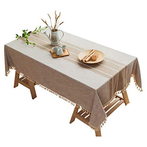 Ins Vent tafelkleed, van katoen-linnen, klein, lage tafel, tafelkleed van stof, voor bed, slaapkamer, slaapkamer.