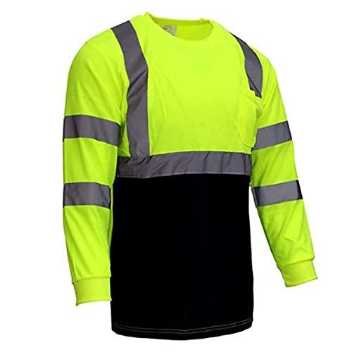 Chaleco de seguridad reflectante de alta visibilid Camiseta reflectante camisa de manga larga camisa de seguridad, ropa de trabajo camiseta camisetas camisas mujeres Chalecos de seguridad para hombres